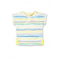 142171 Creative manifesto baby girls shirt optical white+cool blue (8 pcs)