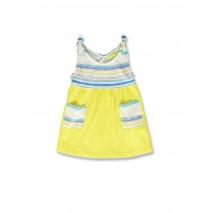 142172 Creative manifesto baby girls dress optical white+cool blue (8 pcs)