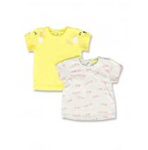 142173 Creative manifesto baby girls shirt twopack blazing yellow+alaskan blue (8 pcs)