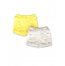 142177 Creative manifesto baby girls short twopack light grey+optical white (8 pcs)