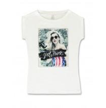 142189 In touch teen girls shirt optical white+light grey (12 pcs)