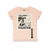 142209 In touch teen girls shirt peach+black (12 pcs)