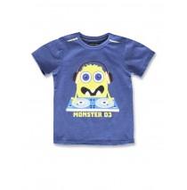 142252 Creative manifesto small boys shirt blue melange+grey melange (12 pcs)