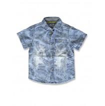 142288 Creative manifesto small boys denim shirt blue (10 pcs)