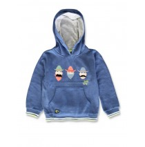 142298 In touch small boys sweatshirt blue melange+grey melange (12 pcs)