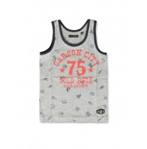 142300 In touch small boys singlet grey melange+blue aster (12 pcs)