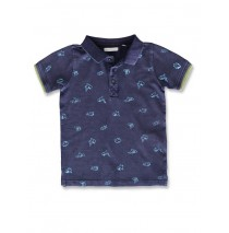 142322 Common ground small boys poloshirt blue nights+limestone (12 pcs)
