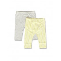 142424 Creative manifesto baby girls legging twopack optical white+light grey (8 pcs)