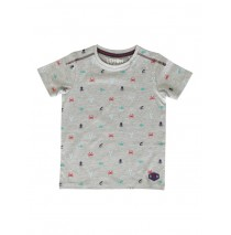 142489 In touch small boys shirt grey melange+medieval blue (12 pcs)