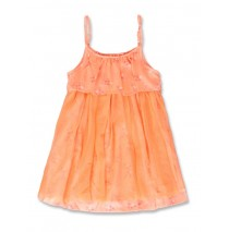 142520 Creative manifesto small girls dress neon coral (10 pcs)