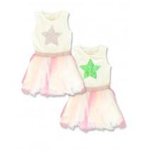 142545 Creative manifesto small girls dress pink (10 pcs)