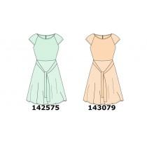 143079 Creative manifesto teen girls dress pale peach (10 pcs)