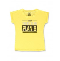 142674 Creative manifesto teen girls shirt blazing yellow+black (12 pcs)