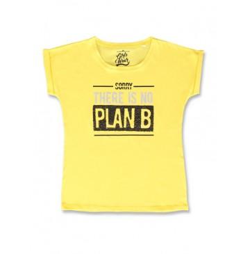142674 Creative manifesto teen girls shirt blazing yellow+black (12 pcs)