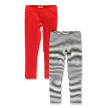 142676 In touch small girls two pack legging blue-night+red (10 pcs)
