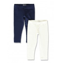 142679 In touch small girls two pack legging optical white-navy (10 pcs)