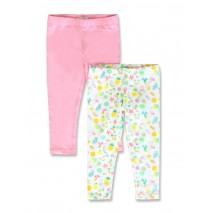 Creative manifesto small girls twopack legging optical white (10 pcs)