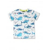 142701 Common ground small boys shirt optical white+grey melange (12 pcs)