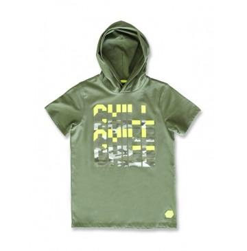 142704 Common ground teen boys shirt four leaf clover+grey melange (12 pcs)