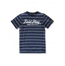 142762 Common ground teen boys shirt navy+american beauty (12 pcs)