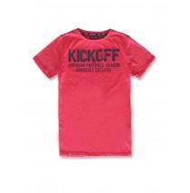 142763 Common ground teen boys shirt red melange+blue nights (12 pcs)