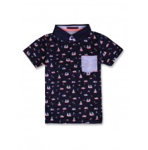 142767 In touch small boys poloshirt blue nights (12 pcs)
