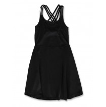 142796 In touch teen girls dress black+deep lichen green (12 pcs)