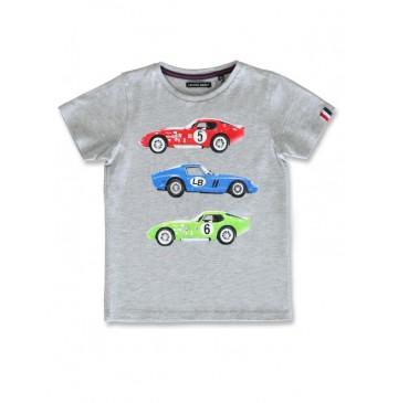 142801 Common ground small boys shirt grey melange+medieval blue (12 pcs)