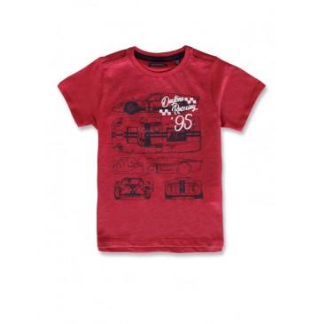 142802 Common ground small boys shirt red melange+blue nights (12 pcs)