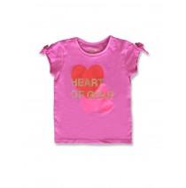 142812 Creative manifesto small girls shirt super pink+optical white (12 pcs)