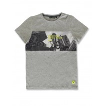 142818 Creative manifesto teen boys shirt grey melange+light grey melange (12 pcs)