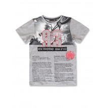 142820 Creative manifesto teen boys shirt grey melange+light grey melange (12 pcs)