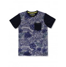 142851 Common ground teen boys shirt blue nights+cool blue (12 pcs)