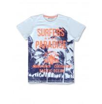 142852 Common ground teen boys shirt cool blue+light grey melange (12 pcs)