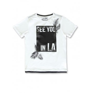 142863 In touch teen boys shirt optical white+nectarine (12 pcs)