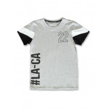142879 In touch teen boys shirt grey melange+black (12 pcs)