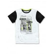 142889 Common ground teen boys shirt optical white+deep lichen green (12 pcs)