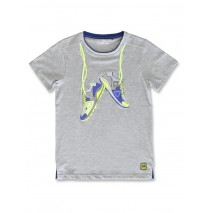 142891 Common ground teen boys shirt grey melange+optical white (12 pcs)