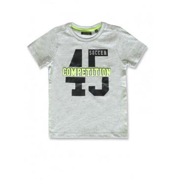 142895 In touch small boys shirt grey melange+marshmallow (12 pcs)