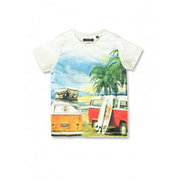142902 Common ground small boys shirt marshmallow+light grey (12 pcs)
