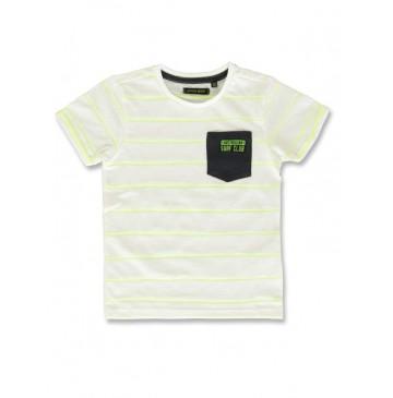 142906 Common ground small boys shirt safety yellow+hot peach (12 pcs)
