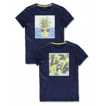 142965 Common ground teen boys shirt medieval blue+cool blue (12 pcs)