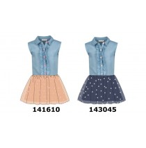 143045 Creative manifesto small girls dress medieval blue (10 pcs)
