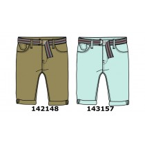 143157 Common ground teen boys bermuda + belt cool blue (10 pcs)