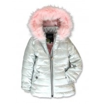 143211 Purpose full small girls jacket silver (10 pcs)