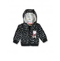 143570 Esteem baby girls cardigan sweater black+grey melange (8 pcs)