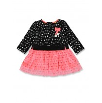 143574 Esteem baby girls dress black+grey melange (8 pcs)
