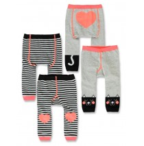 143575 Esteem baby girls legging twopack light grey melange+optical white (8 pcs)