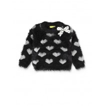 143576 Esteem baby girls pullover black+english rose (8 pcs)