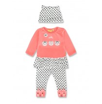143580 Esteem baby girls set neon coral+english rose (8 pcs)